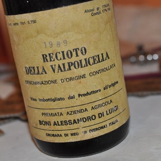 First label of Recioto della Valpolicella